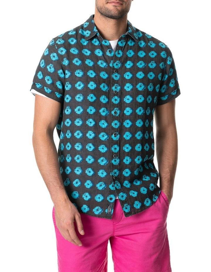 Peninsula Short Sleeve Sports Fit Shirt - Sepia image 1
