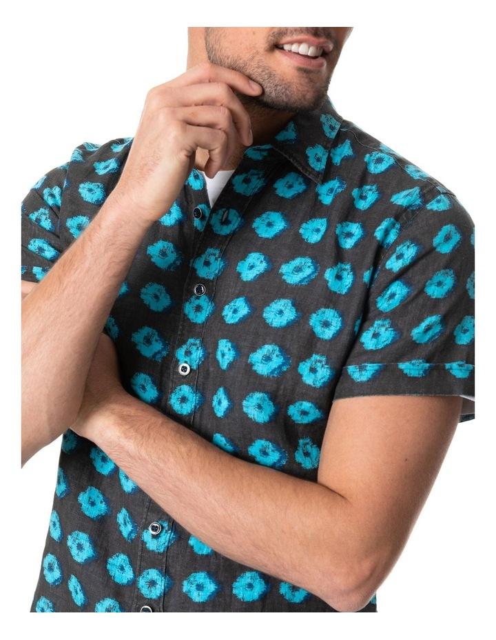 Peninsula Short Sleeve Sports Fit Shirt - Sepia image 4