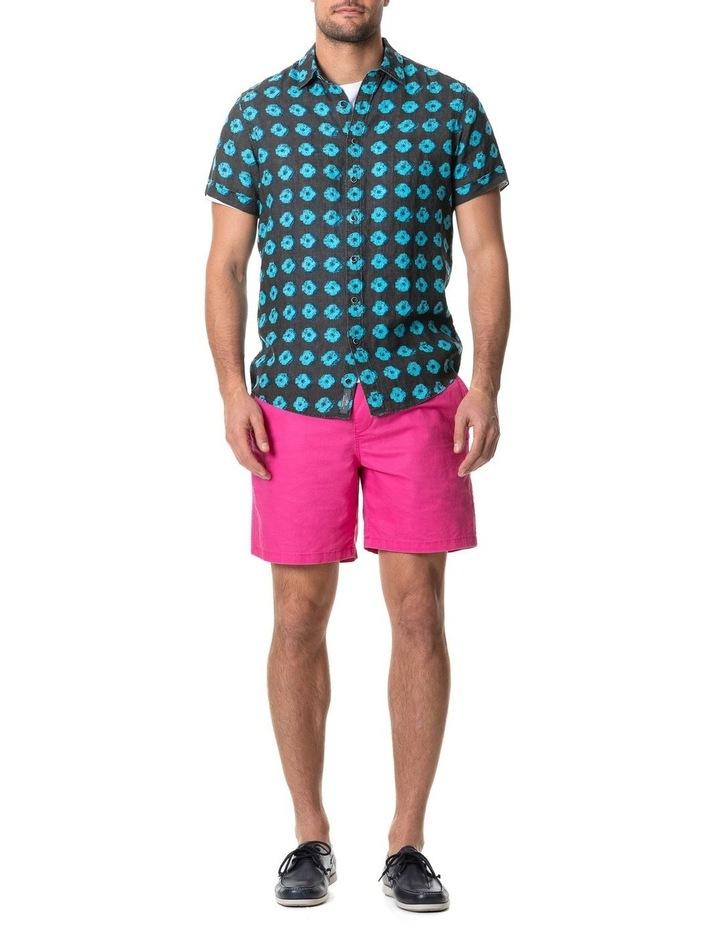 Peninsula Short Sleeve Sports Fit Shirt - Sepia image 5