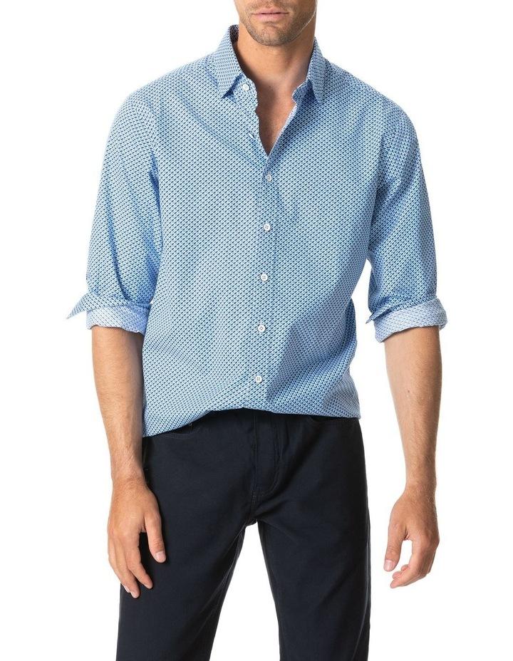 Grey Town Long Sleeve Shirt - Azure image 1
