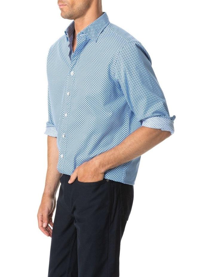 Grey Town Long Sleeve Shirt - Azure image 2