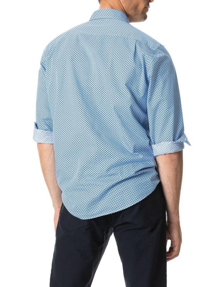 Grey Town Long Sleeve Shirt - Azure image 3