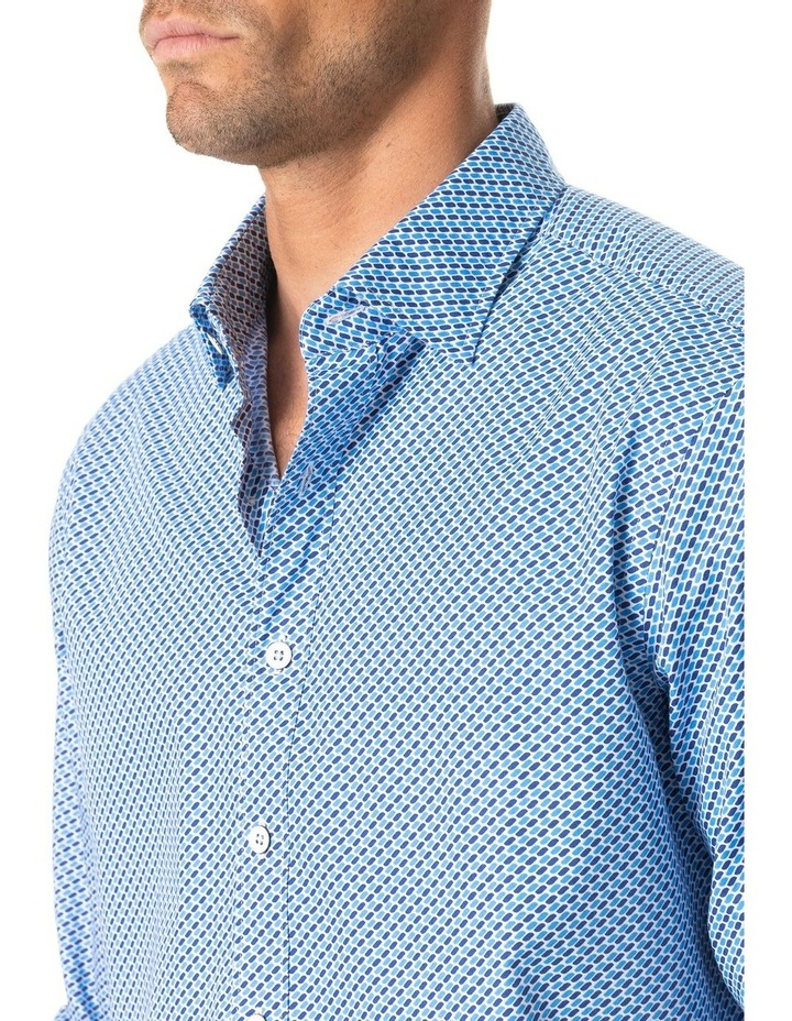 Grey Town Long Sleeve Shirt - Azure image 4