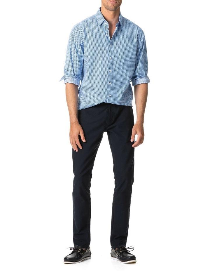 Grey Town Long Sleeve Shirt - Azure image 5