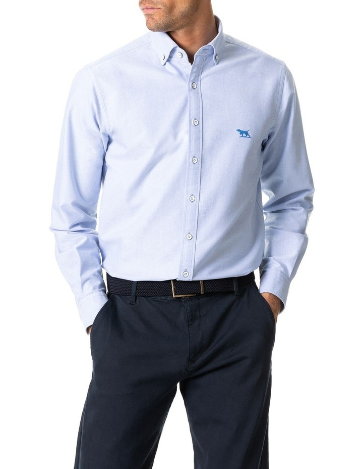 North Island Oxford Long Sleeve Sports Fit Shirt image 1