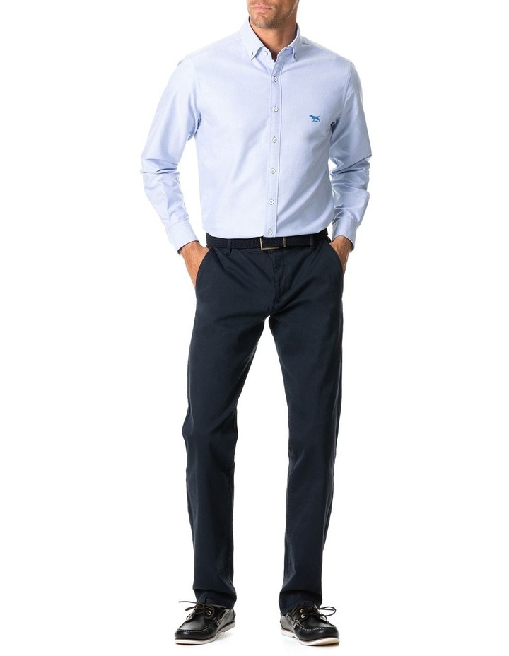 North Island Oxford Long Sleeve Sports Fit Shirt image 3