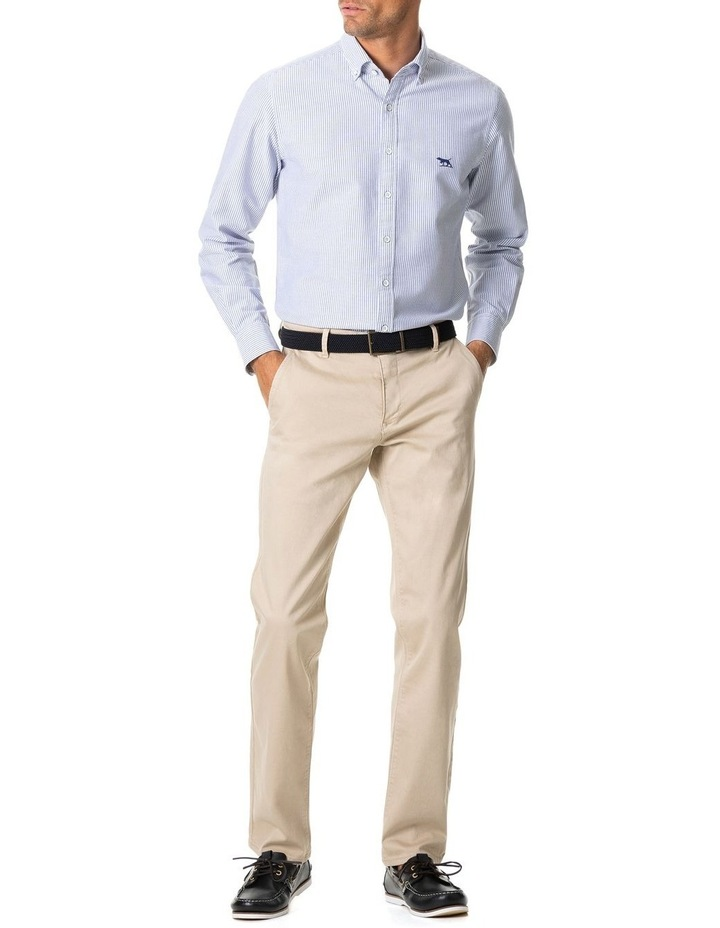 South Island Oxford Long Sleeve Sports Fit Shirt - Royal image 3