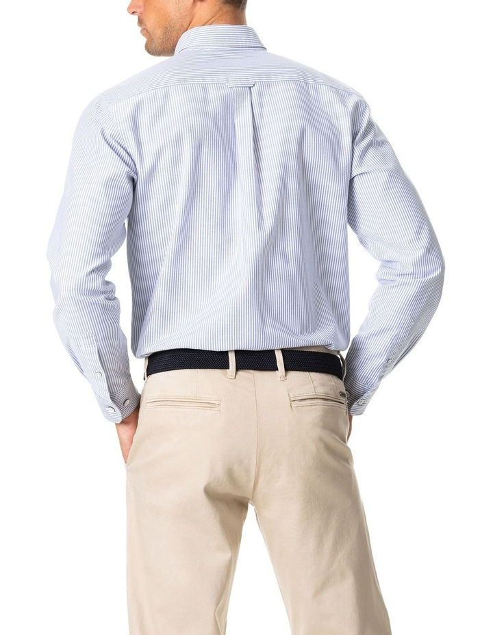 South Island Oxford Long Sleeve Sports Fit Shirt - Royal image 4