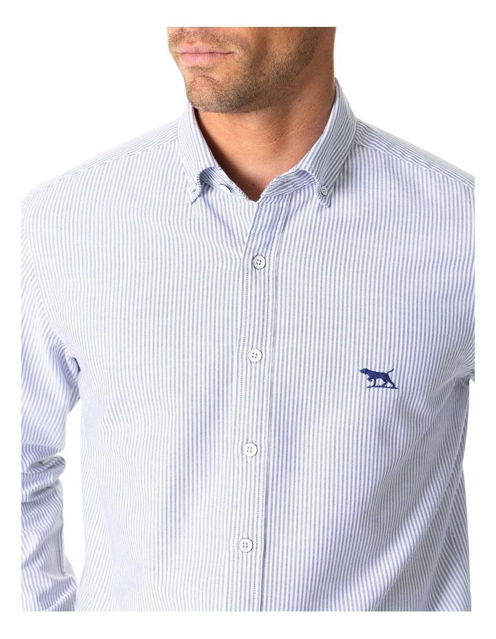South Island Oxford Long Sleeve Sports Fit Shirt - Royal image 5