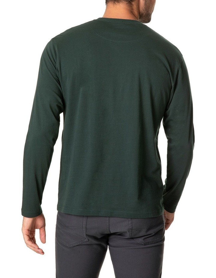 Long Sleeve Logo T-Shirt - Forest image 3