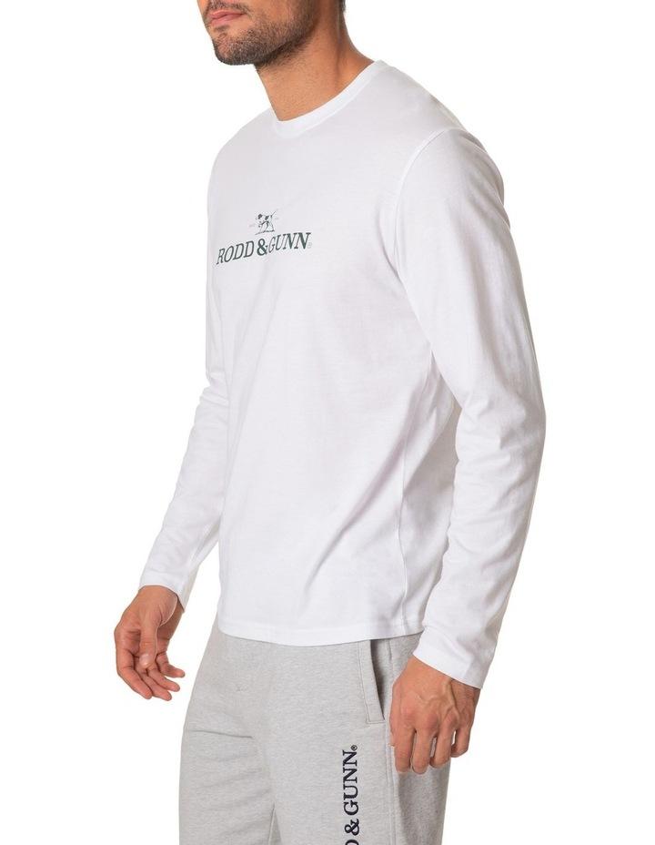 Long Sleeve Logo T-Shirt - Snow image 2