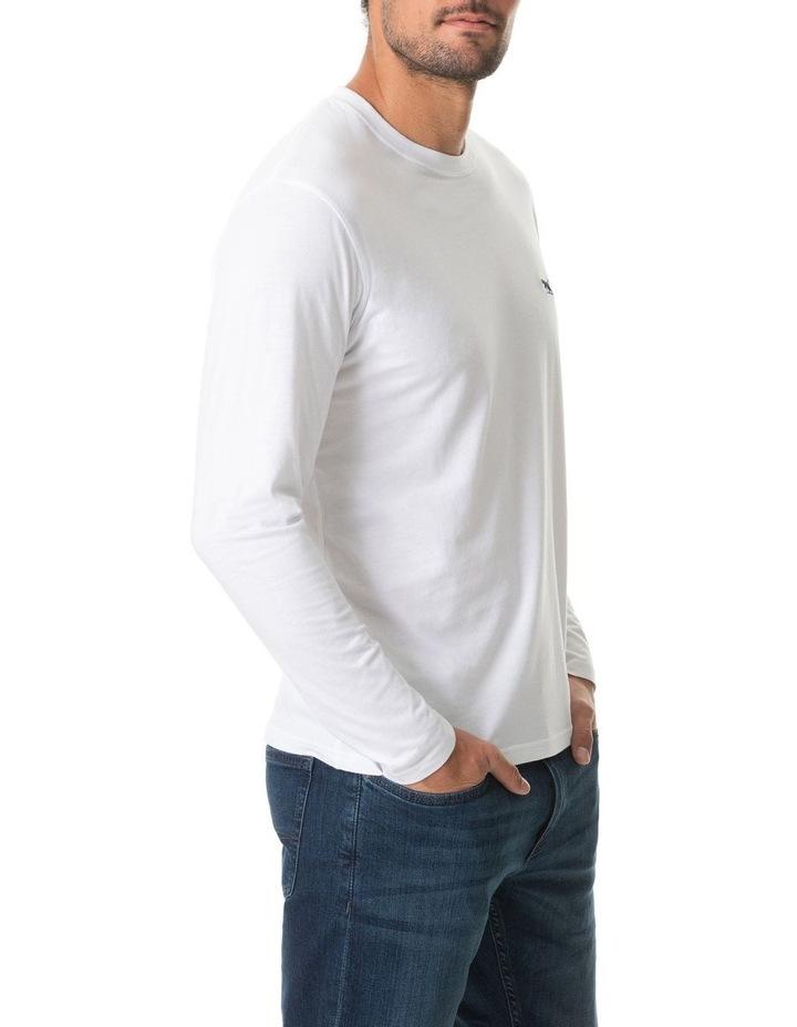 Long Sleeve Gunn T-Shirt - Snow image 2