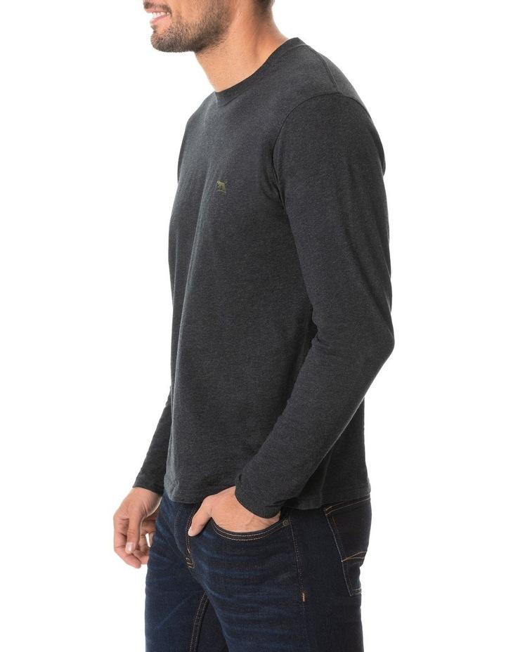 Long Sleeve Gunn T-Shirt - Charcoal image 2