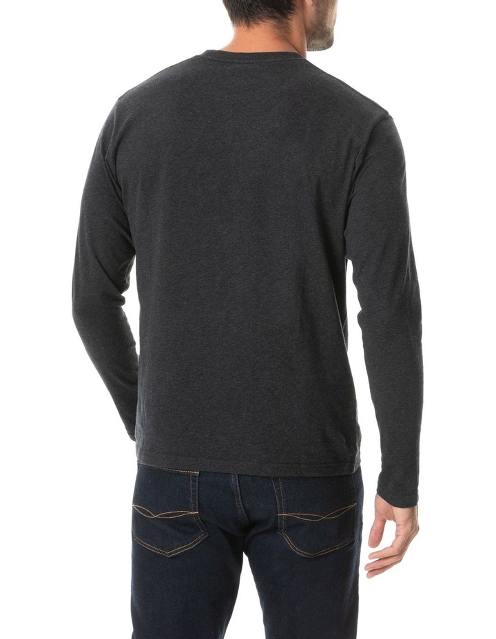 Long Sleeve Gunn T-Shirt - Charcoal image 3