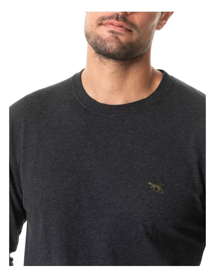 Long Sleeve Gunn T-Shirt - Charcoal image 4