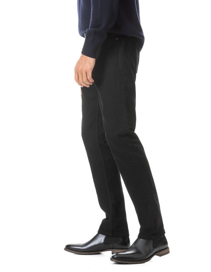Longburn Straight Fit Jean Short Leg - Nero image 3