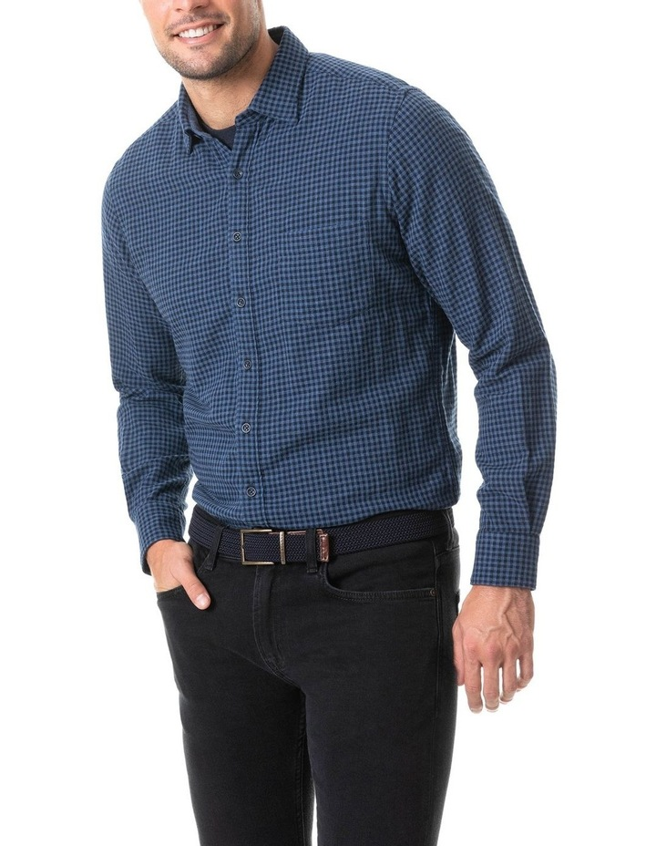 Dannemore Sports Fit Shirt - Indigo image 1