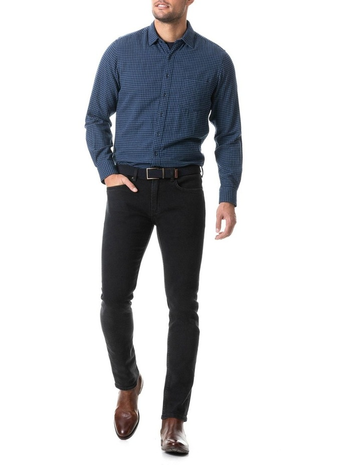 Dannemore Sports Fit Shirt - Indigo image 3