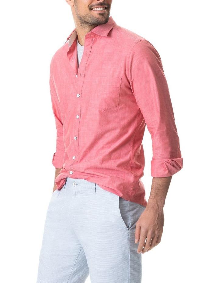 Pollock Long Sleeve Sports Fit Shirt - Claret image 1