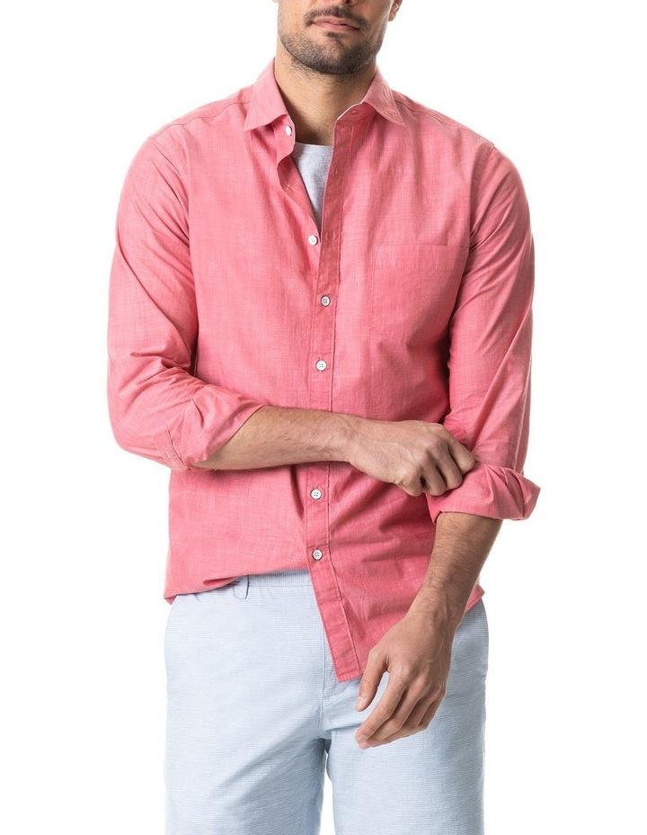 Pollock Long Sleeve Sports Fit Shirt - Claret image 2