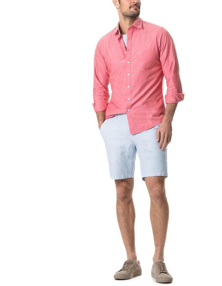 Pollock Long Sleeve Sports Fit Shirt - Claret image 3