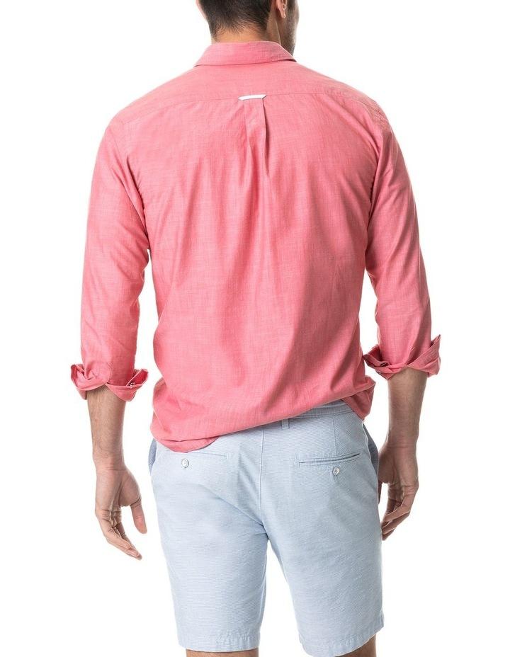 Pollock Long Sleeve Sports Fit Shirt - Claret image 5