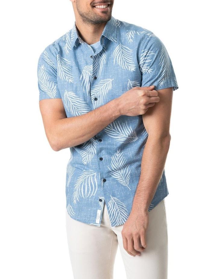 Martains Bay Short Sleeve Sports Fit Shirt - Stonewash image 1