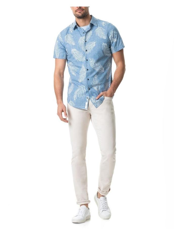 Martains Bay Short Sleeve Sports Fit Shirt - Stonewash image 5