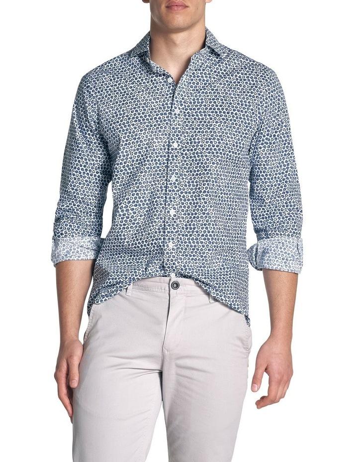 Ocean Grove Long Sleeve Sports Fit Shirt - Marine image 1
