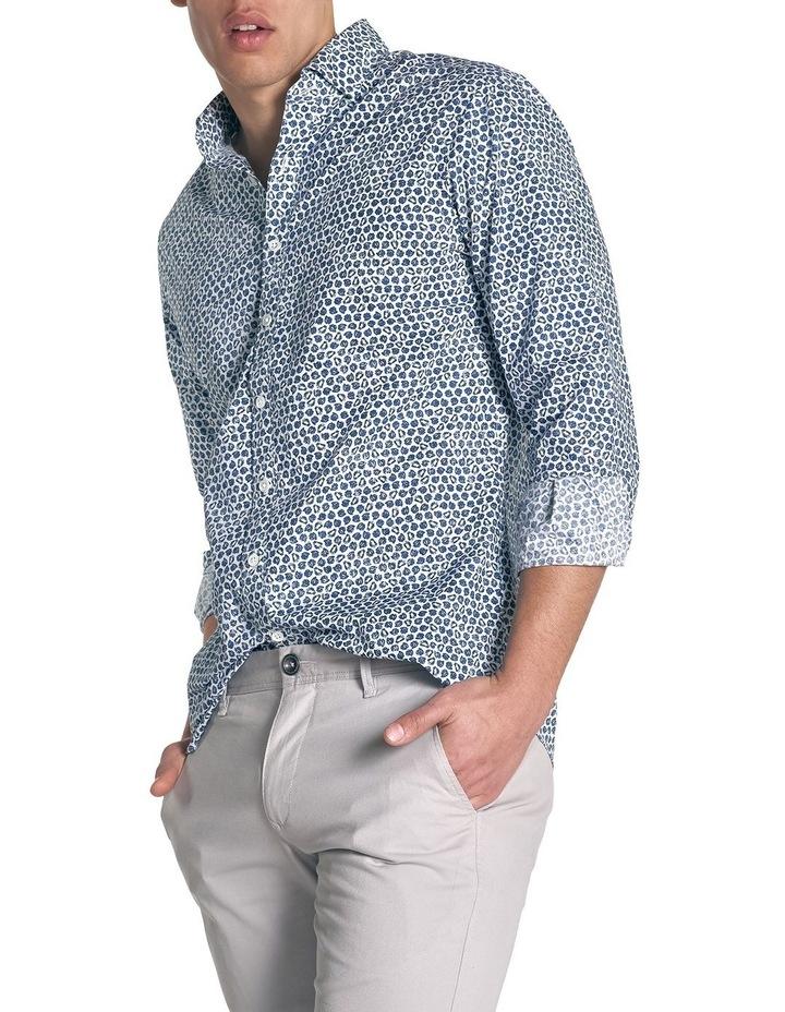 Ocean Grove Long Sleeve Sports Fit Shirt - Marine image 3