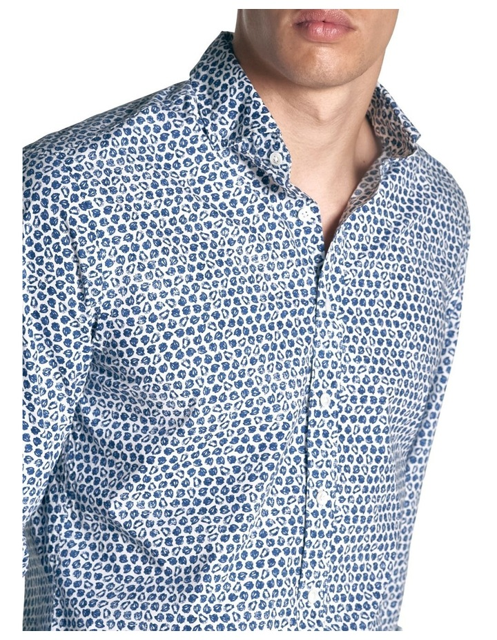 Ocean Grove Long Sleeve Sports Fit Shirt - Marine image 5