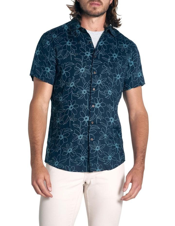 Helensbrook Short Sleeve Sports Fit Shirt - Indigo image 1