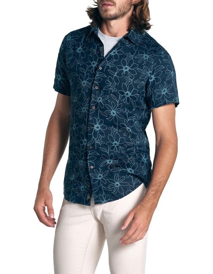 Helensbrook Short Sleeve Sports Fit Shirt - Indigo image 3