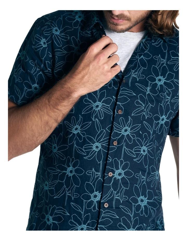 Helensbrook Short Sleeve Sports Fit Shirt - Indigo image 5
