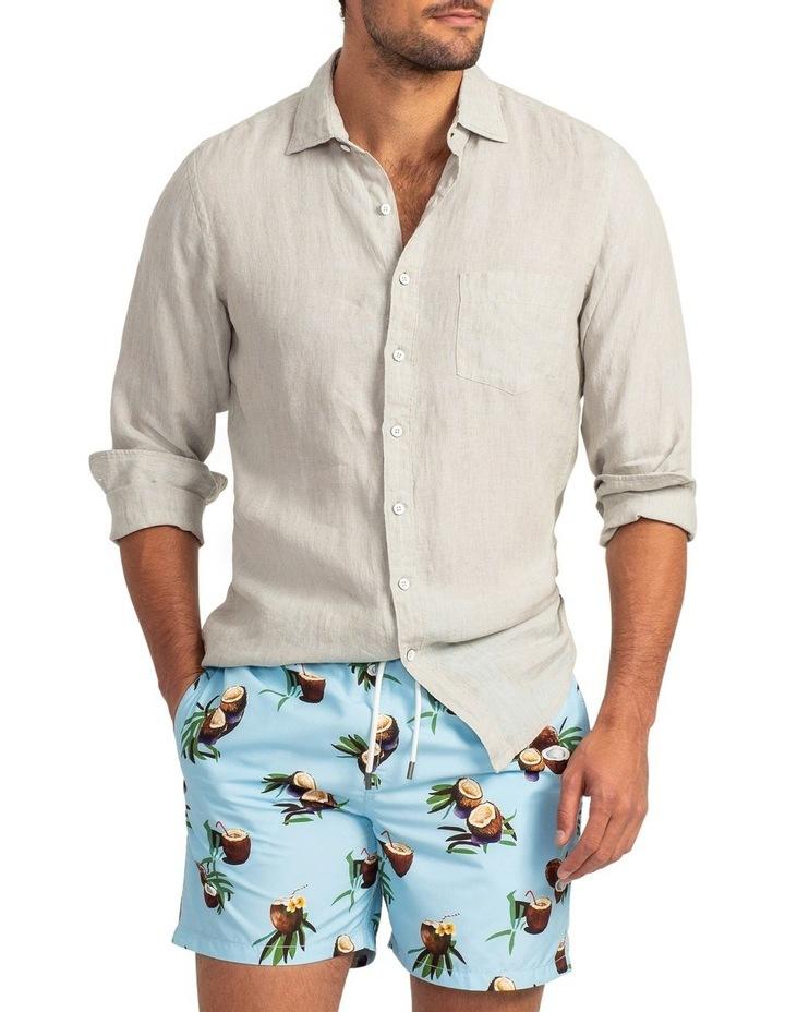 Coromandel Long Sleeve Sports Fit Shirt - Flax image 1