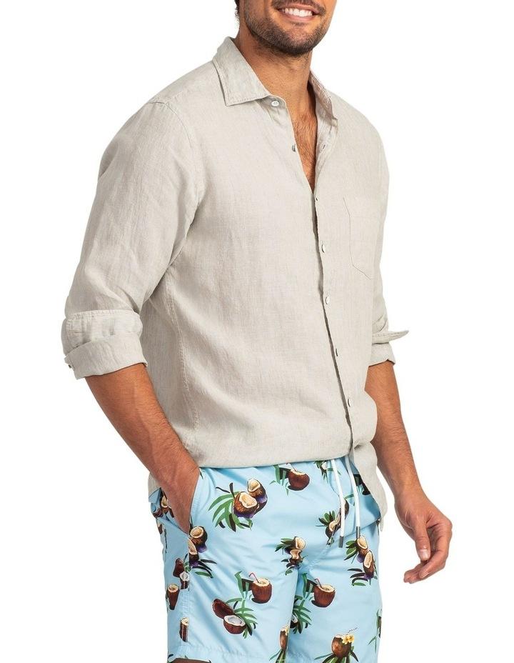 Coromandel Long Sleeve Sports Fit Shirt - Flax image 2