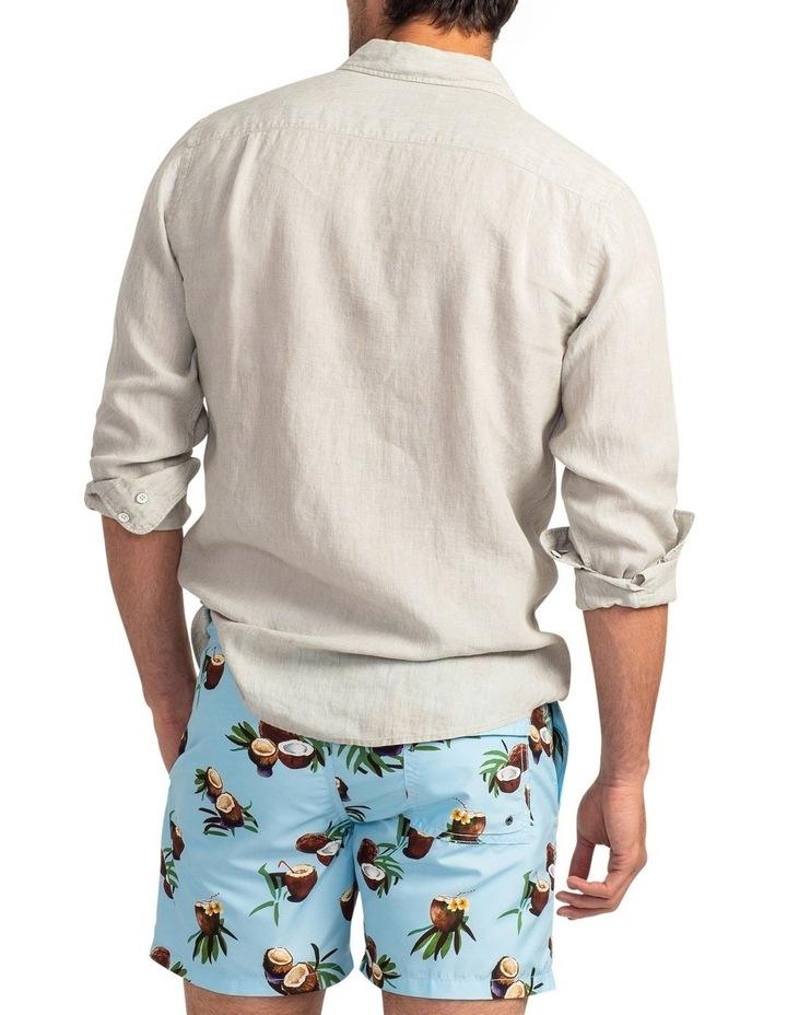 Coromandel Long Sleeve Sports Fit Shirt - Flax image 3