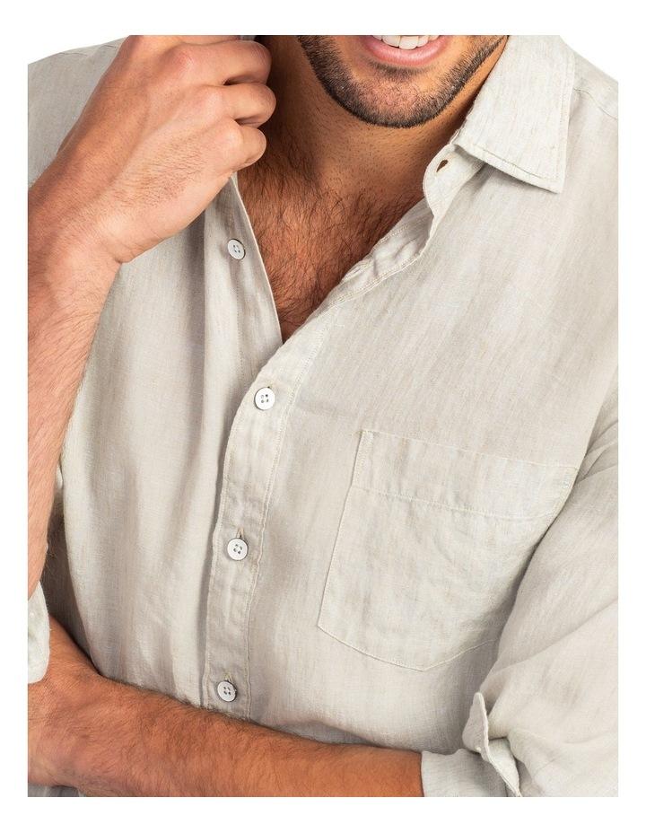 Coromandel Long Sleeve Sports Fit Shirt - Flax image 5