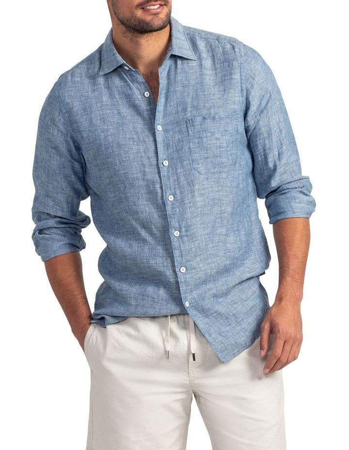 Chaffeys Long Sleeve Sports Fit Shirt - Denim image 1