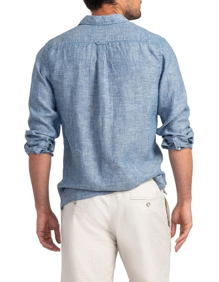 Chaffeys Long Sleeve Sports Fit Shirt - Denim image 3