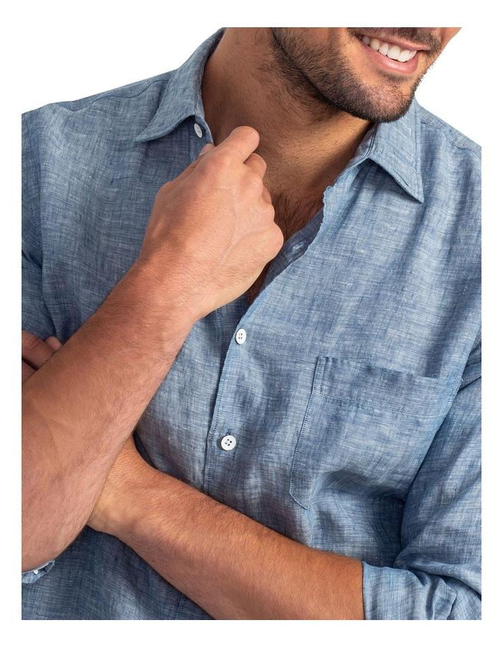 Chaffeys Long Sleeve Sports Fit Shirt - Denim image 5