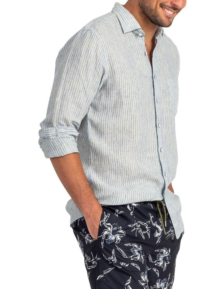 Stanely Vale Long Sleeve Sports Fit Shirt - Horizon image 2