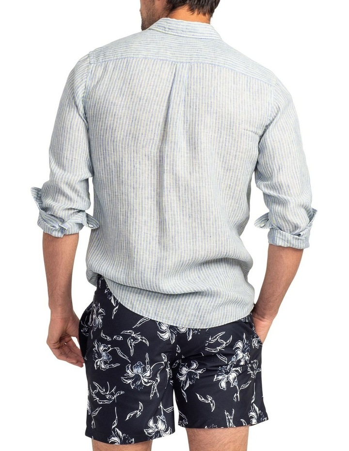 Stanely Vale Long Sleeve Sports Fit Shirt - Horizon image 3
