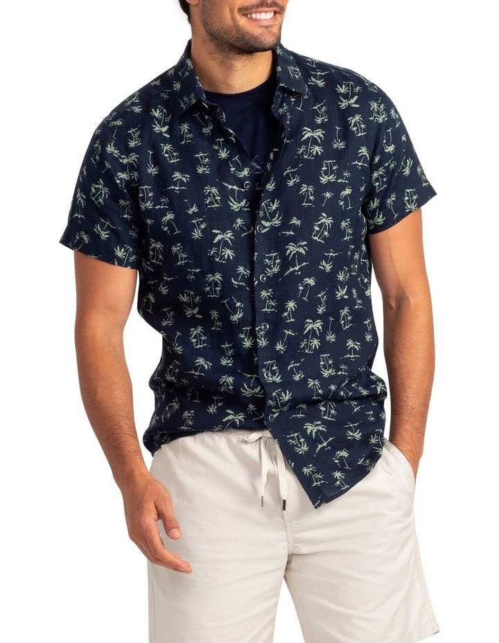 Somes Island Short Sleeve Sports Fit Shirt - Grass image 1