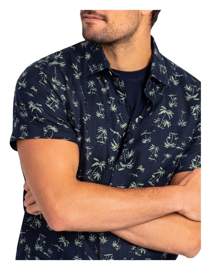 Somes Island Short Sleeve Sports Fit Shirt - Grass image 5