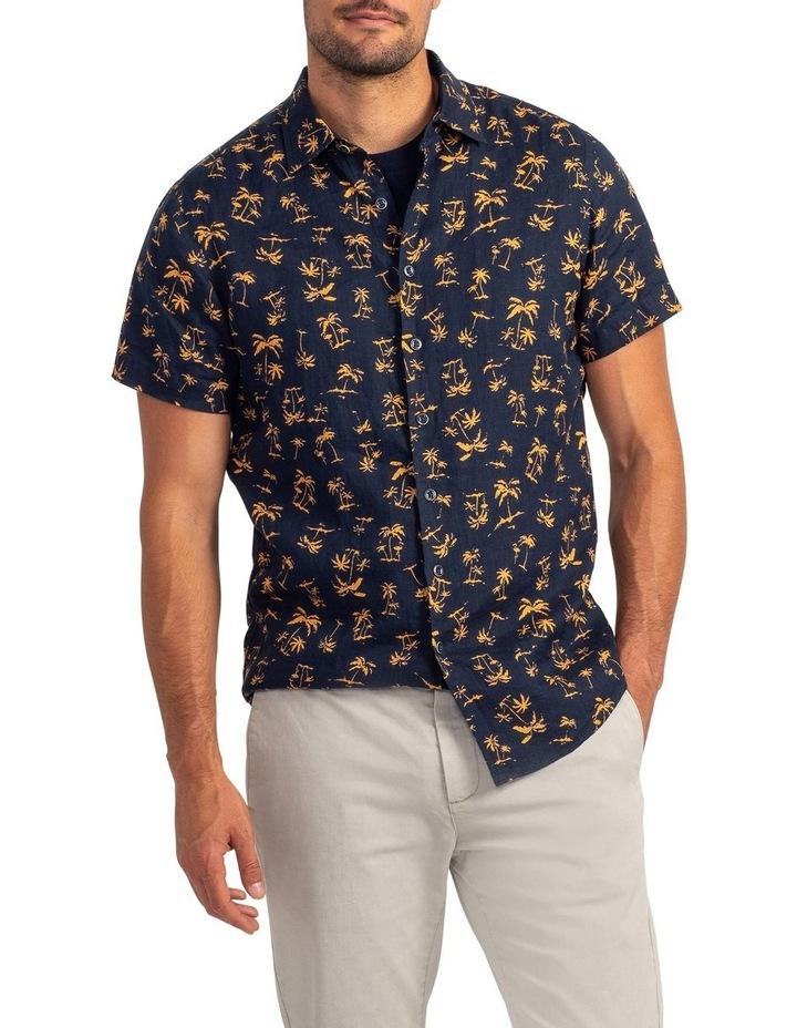 Somes Island Short Sleeve Sports Fit Shirt - Sunset image 1