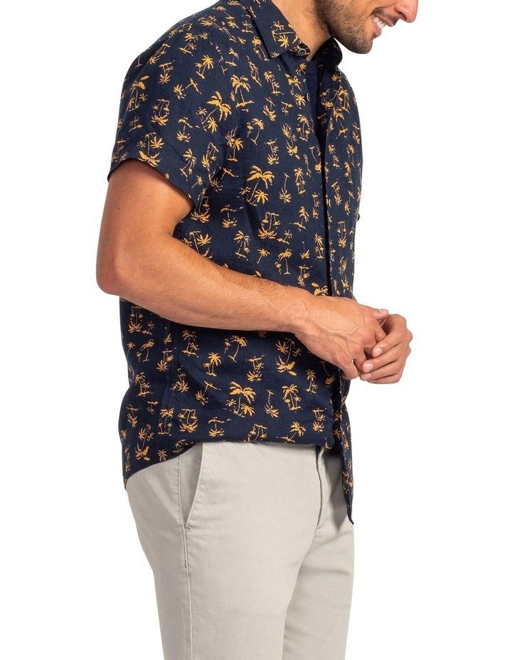 Somes Island Short Sleeve Sports Fit Shirt - Sunset image 2