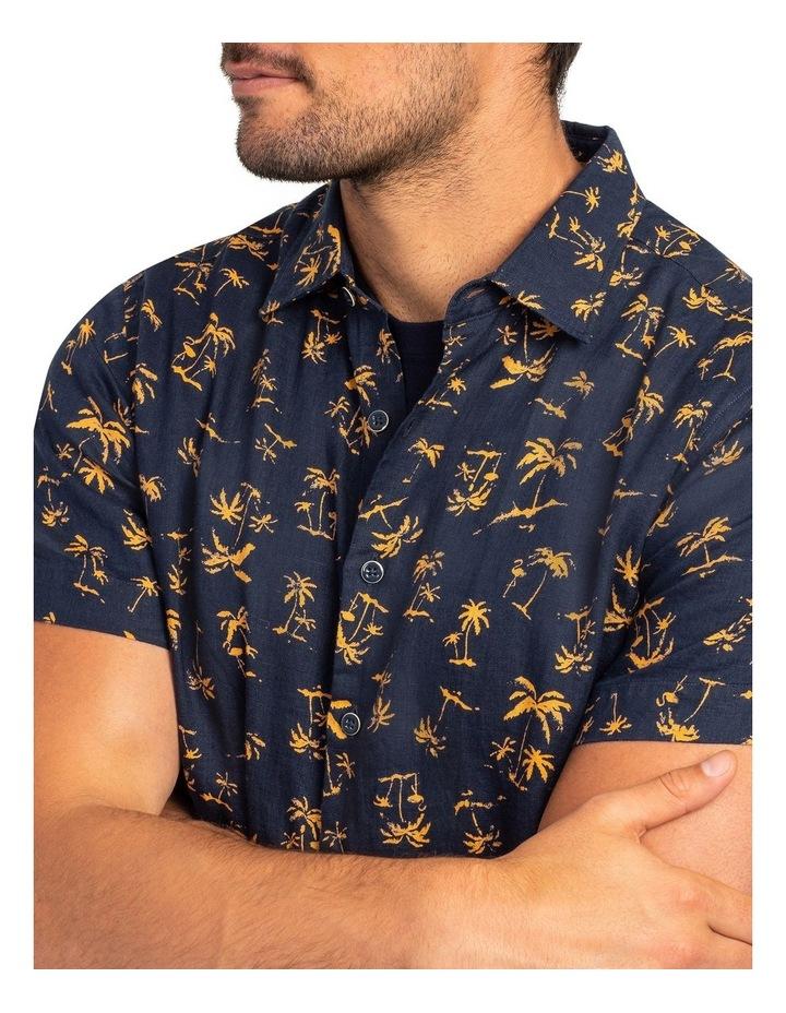 Somes Island Short Sleeve Sports Fit Shirt - Sunset image 5