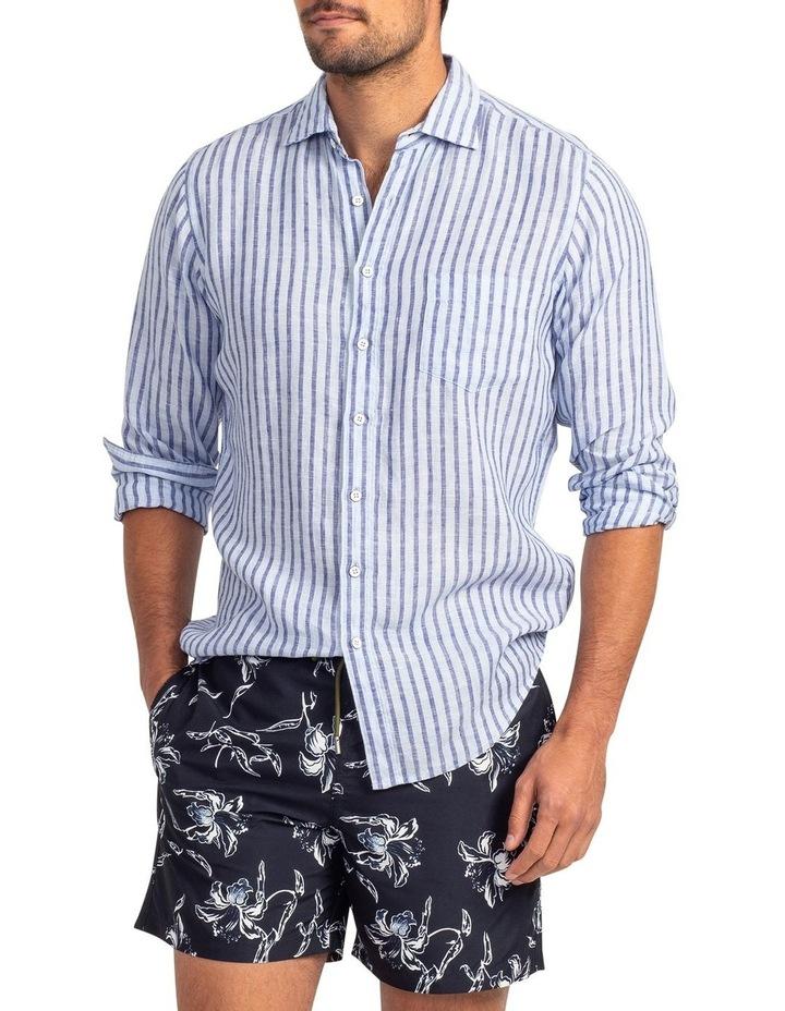 Hillgrove Downs Long Sleeve Sports Fit Shirt - Atlantic image 1