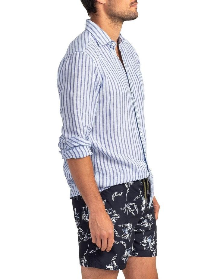 Hillgrove Downs Long Sleeve Sports Fit Shirt - Atlantic image 3